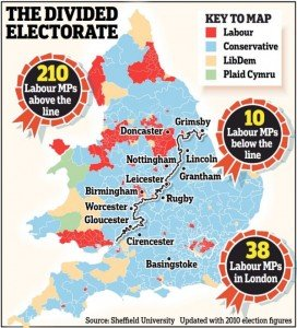 The divided electorate in England and Wales