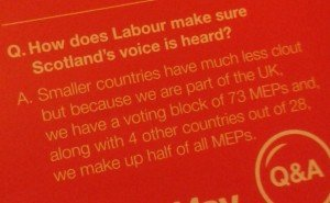 A Q&A from Labour's European Parliament election leaflet.