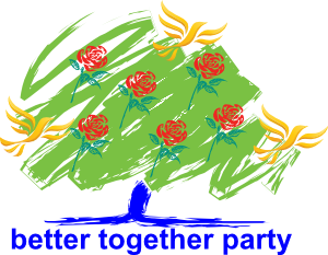 The Better Together Party logo.
