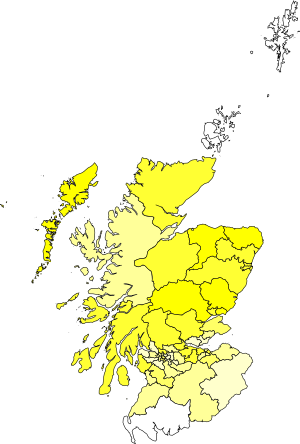 A map of the constituencies showing my rankings. The white ones are formidable, and the dark yellow ones are safe.