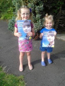 My daughters were doing their bit during the indyref, too.