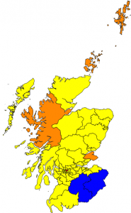A map of the predicted result.