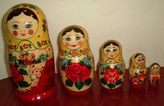 Matryoshka nesting dolls, by B Balaji on Flickr.