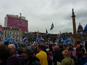 Freedom Square in Glasgow today, one year and a day after the independence referendum.