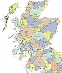 Scottish Travel to Work areas.