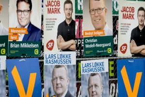 Danish election posters.