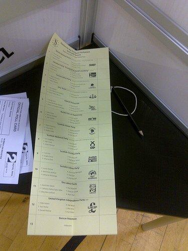 ballot paper photo